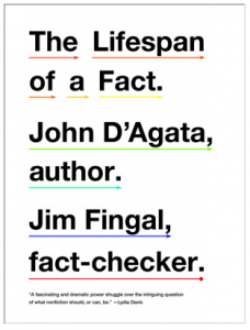 Couverture de The Lifespan of a fact, par John D'Agata et Jim Fingal