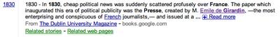 Extrait Google news histoire