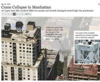 La chute d'une grue à New York (NYT)