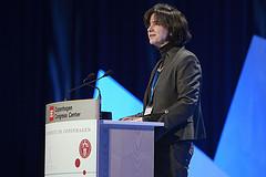 Katherine Richardson à la tribune du Congrès de Copenhague (photo: Lizette Kabré)