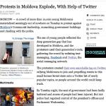"""Le premier article d'Ellen Bary met l'accent sur la """"Twitter-mobilisation""""."""
