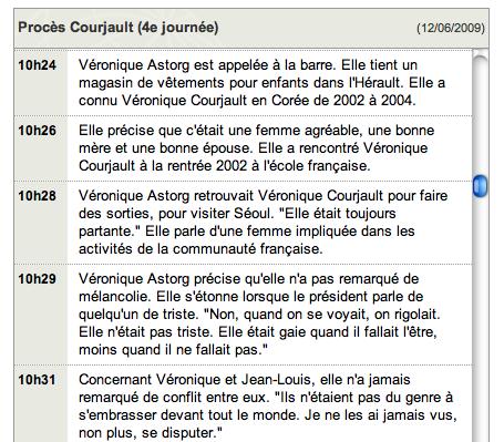 Live blogging procès Courjeault