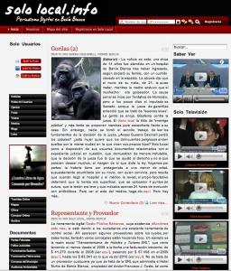 Page d'accueil de SoloLocal.info