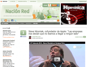 Home page de Nacion Red