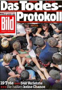 La Une du Bild, le 26 juillet 2010