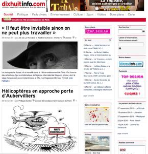 Page d'accueil de dixhuitinfo.com