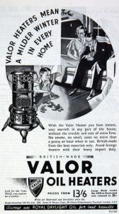 Le chauffage Valor utilisé par George Orwell à Barnhill
