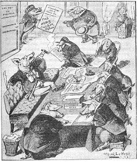 """""""Bureau de rédaction d'un journal à la mode"""" - Alfred Le Petit, 1880"""