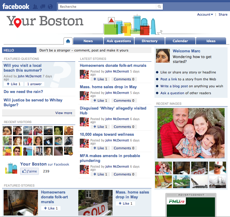 Page d'accueil Your Boston
