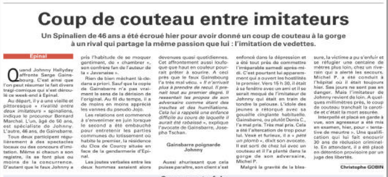 """Article """"papier"""" Vosges Matin, daté du 26 juillet 2011"""