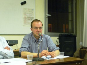 Le sociologue Cyril Lemieux lors du debat Ca Presse ! sur les experts