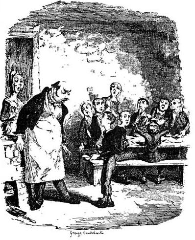 Oliver Twist, dessin de Cruikshank