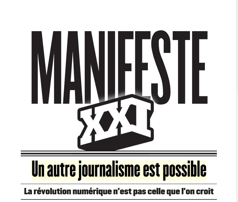 La couverture du Manifeste XXI