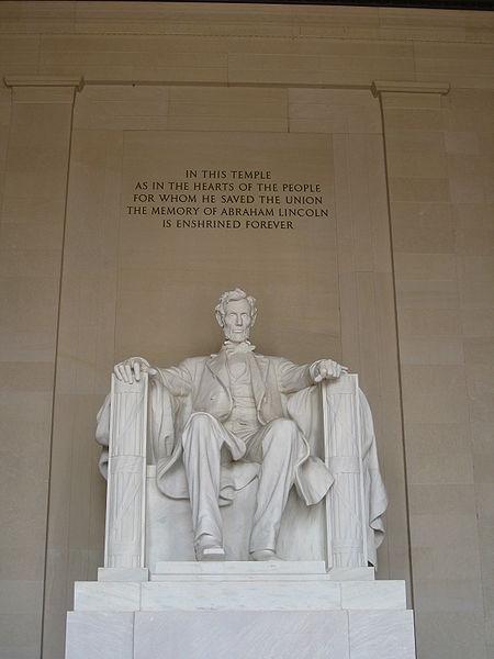 La statue d'Abraham Lincoln Memorial
