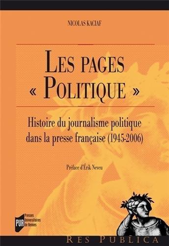 """Couverture, Les pages """"politique"""", de Nicolas Kaciaf"""