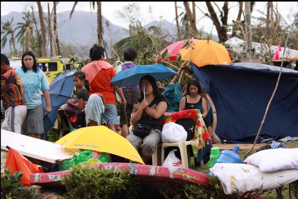 La ville de Tacloban, Philippines ravagée après le passage du cyclone Haiyan